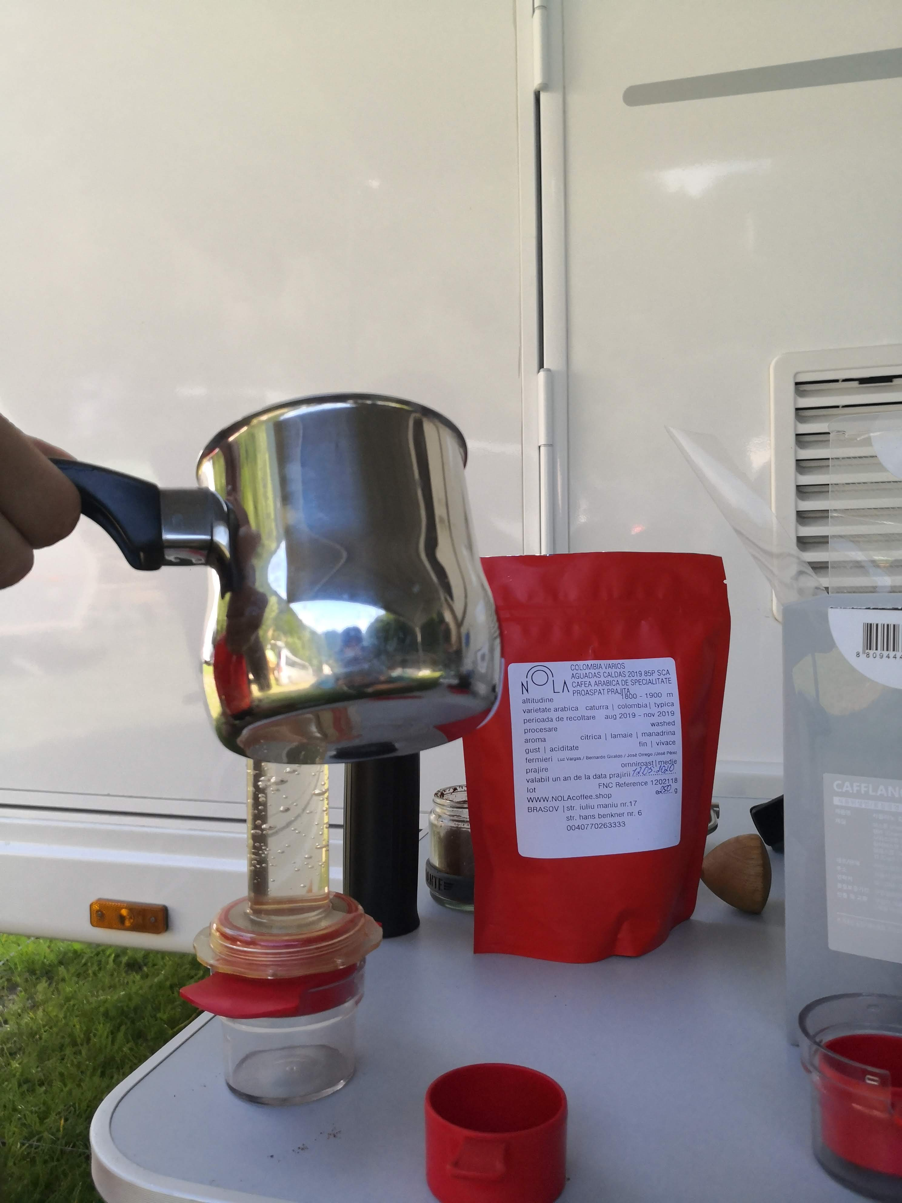 cafea camping